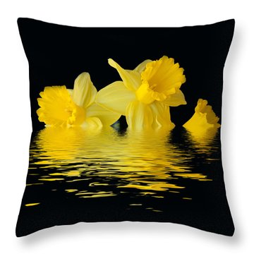 Floating Daffodils  Throw Pillow by Geraldine Alexander