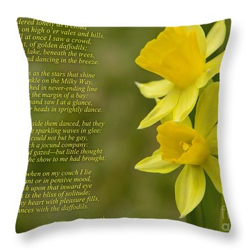 Daffodils Poem By William Wordsworth Throw Pillow