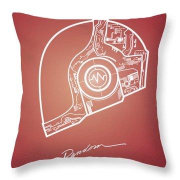 Daft Punk Guy Manuel Poster Random Access Memories Digital Illustration Print Throw Pillow