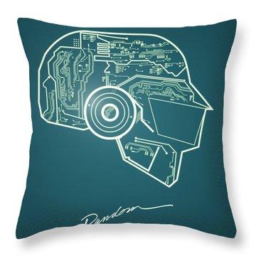 Daft Punk Thomas Poster Random Access Memories Digital Illustration Print Throw Pillow