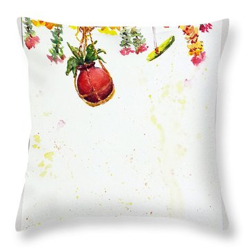 Dahi Handi Throw Pillow