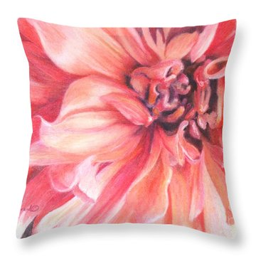 Dahlia 1 Throw Pillow