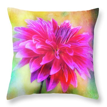 Dahlia Abstract Throw Pillow