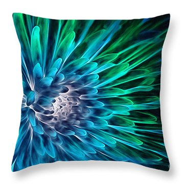 Dahlia Abstract Vibrance Throw Pillow