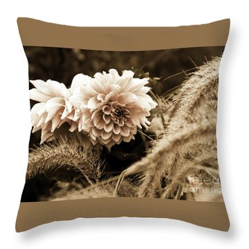 Dahlia After A Shower Throw Pillow by Marcia Lee Jones