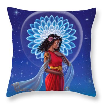 Dahlia - Attend To Your Shadows Throw Pillow