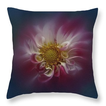 Throw Pillow featuring the photograph Dahlia Aug 2016 No. 3 by Richard Cummings