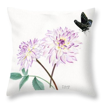 Dahlia Crazy Love Throw Pillow