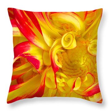 Dahlia Curls Throw Pillow