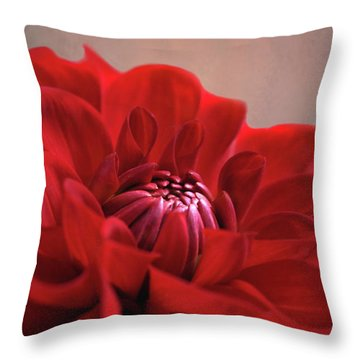 Dahlia Dalliance  Throw Pillow