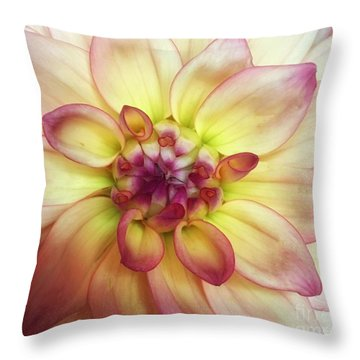 Dahlia Delight Throw Pillow