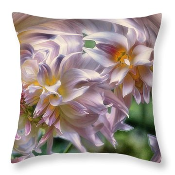 Dahlia Ecstasy Throw Pillow