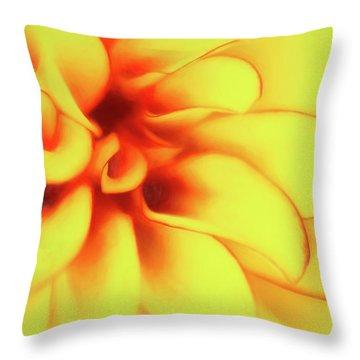 Dahlia Flower Abstract Throw Pillow