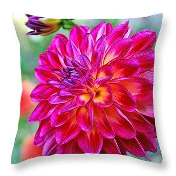 Dahlia Fuchsia Surprise  Throw Pillow