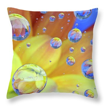 Dahlia Galaxy Two Throw Pillow