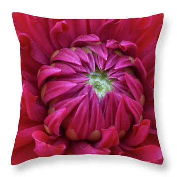 Dahlia Heart Throw Pillow