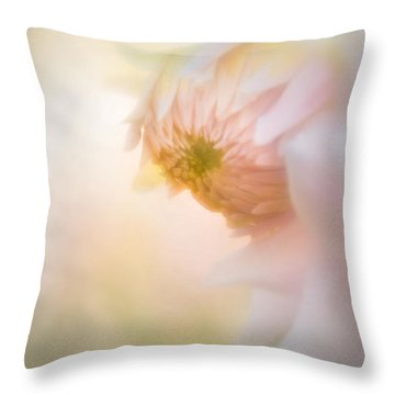 Dahlia In The Soft Morning Mist Throw Pillow