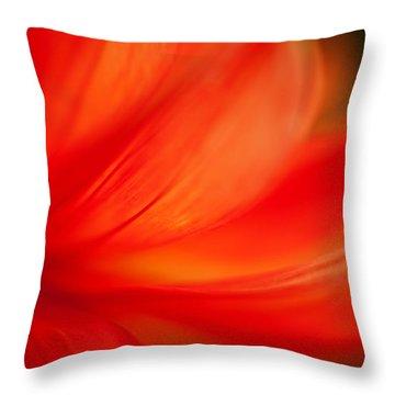 Dahlia On Fire Throw Pillow by Mike Reid