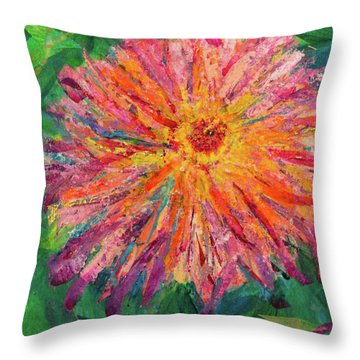 Dahlia Throw Pillow