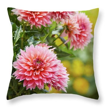 Dahlia Passion Fruit Throw Pillow