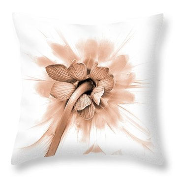 Throw Pillow featuring the photograph Dahlia Shyness by Julie Palencia