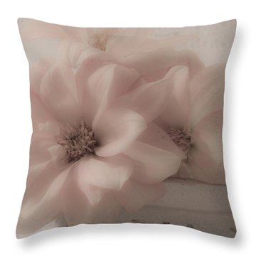 Dahlias Oh So Soft Throw Pillow