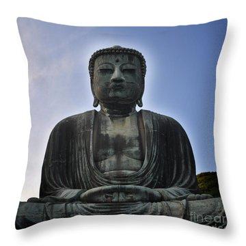 Daibutsu Buddha Throw Pillow