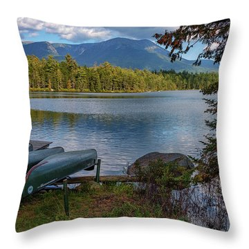 Daicey Pond Campground Throw Pillow