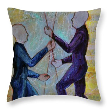 Throw Pillow featuring the painting Daily Balancing by Priti Lathia