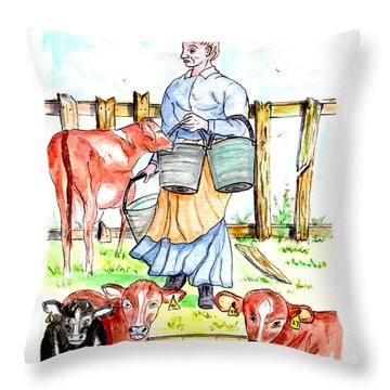 Daily Chores Throw Pillow by Philip Bracco