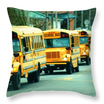 Daily Parade Throw Pillow