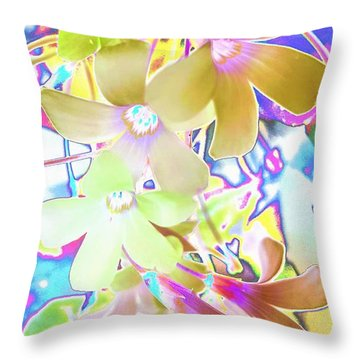 Dainty Bloosoms Throw Pillow