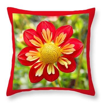 Dainty Dahlia Throw Pillow