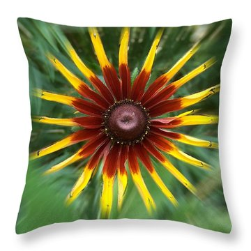 Dainty Daisy Throw Pillow by David and Lynn Keller