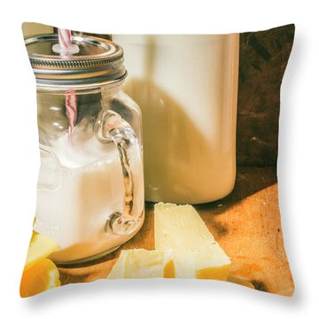 Dairy Farm Products Throw Pillow