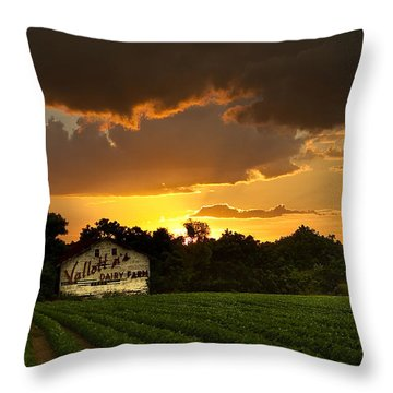 Dairy Fresh Throw Pillow by Dan Wells