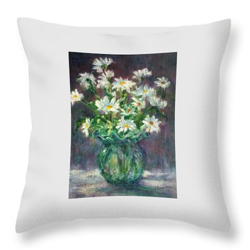 Daises Throw Pillow by Jill Musser