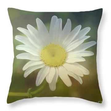 Daisies Don't Tell Throw Pillow