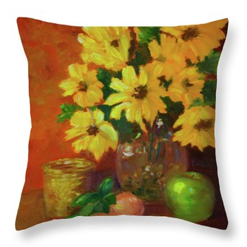 Daisies Of The Galaxy Throw Pillow