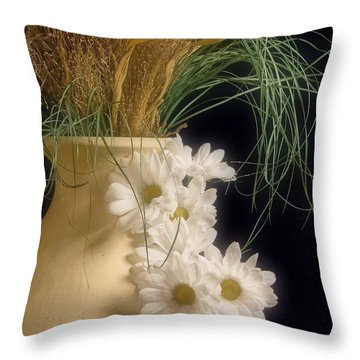 Daisies On The Side Throw Pillow