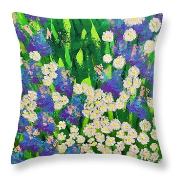 Daisy And Glads Throw Pillow