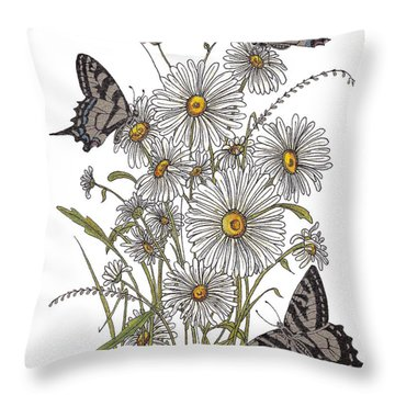 Throw Pillow featuring the painting Daisy At Your Feet by Stanza Widen