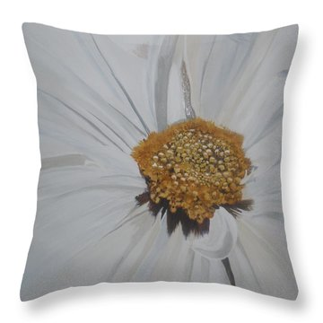 Throw Pillow featuring the painting Daisy by Betty-Anne McDonald