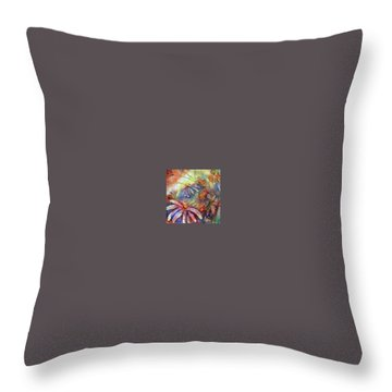 Throw Pillow featuring the painting Daisy Blues by Renate Nadi Wesley