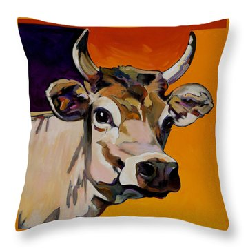 Throw Pillow featuring the painting Daisy by Bob Coonts