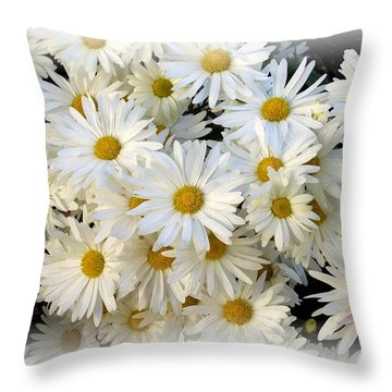 Daisy Bouquet Throw Pillow by Carol Sweetwood
