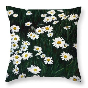 Daisy Bouquet Throw Pillow