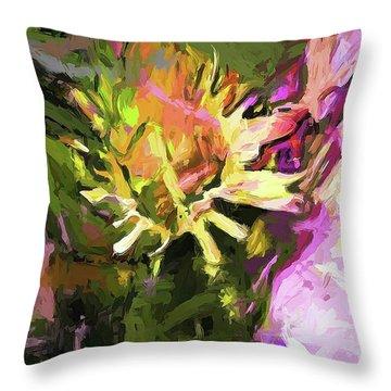 Daisy Breeze Throw Pillow