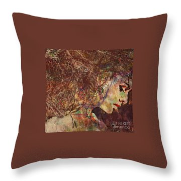 Daisy Chain Eve Throw Pillow by Kim Prowse