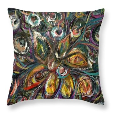 Daisy Eyes Throw Pillow